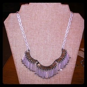 Stella and Dot fringe crystal necklace
